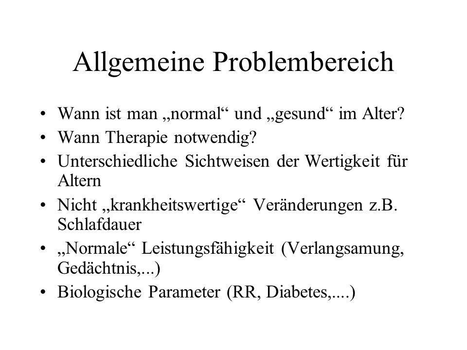 Allgemeine Problembereich