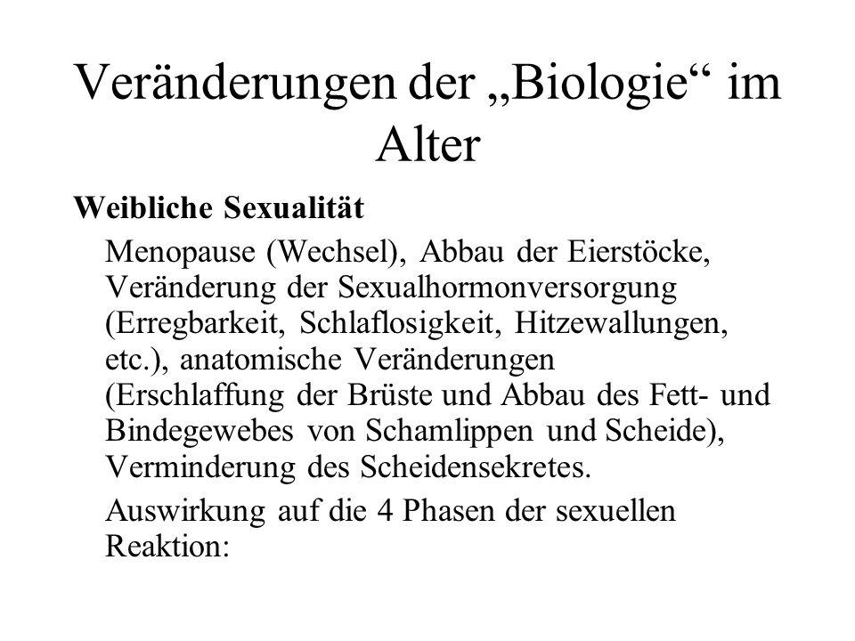 """Veränderungen der """"Biologie im Alter"""