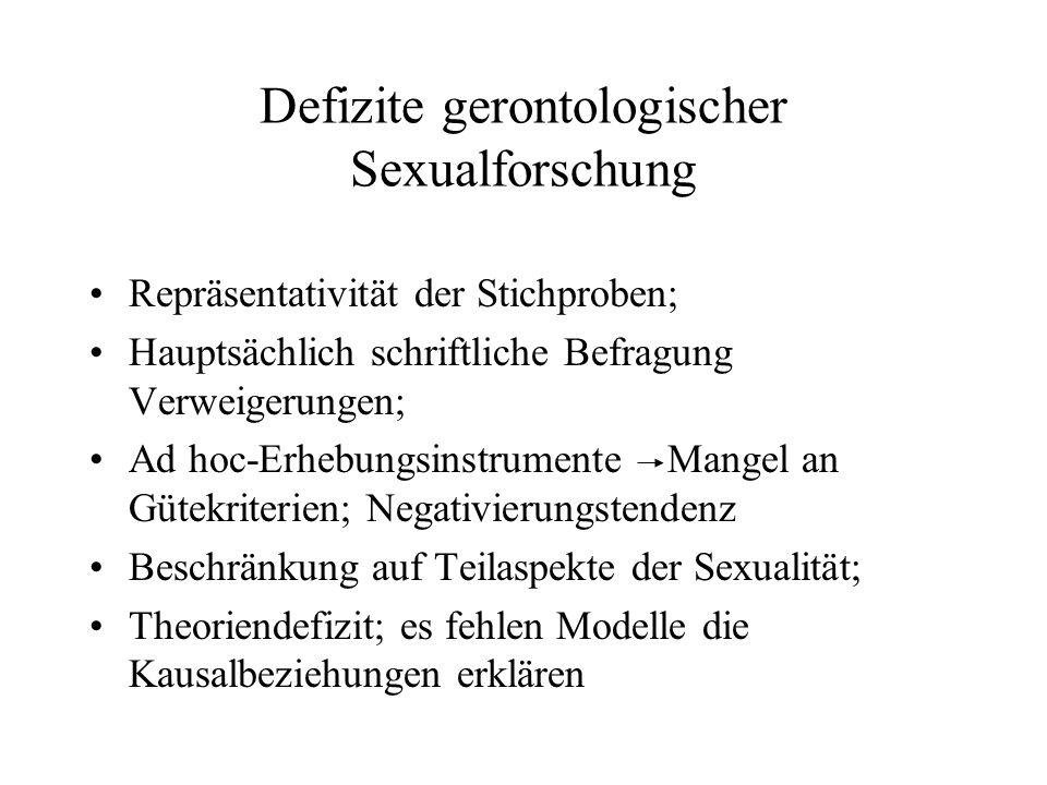 Defizite gerontologischer Sexualforschung