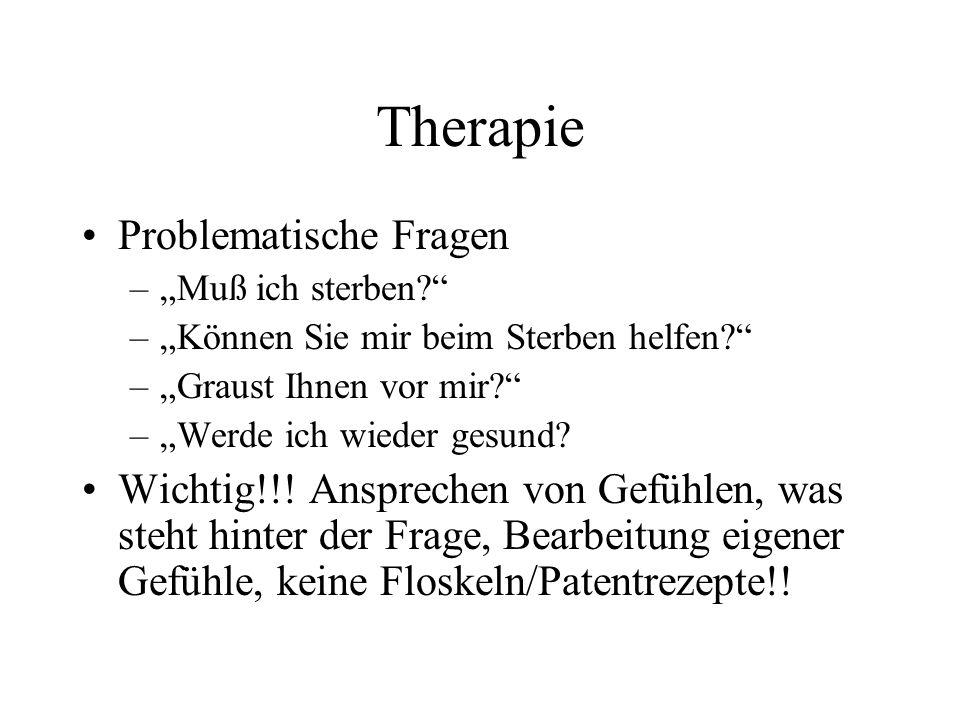 Therapie Problematische Fragen