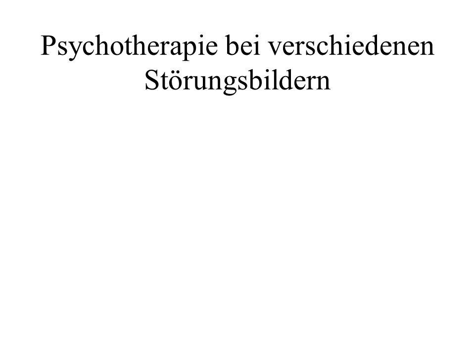 Psychotherapie bei verschiedenen Störungsbildern