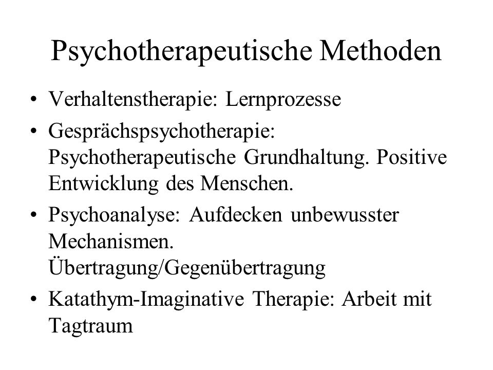 Psychotherapeutische Methoden