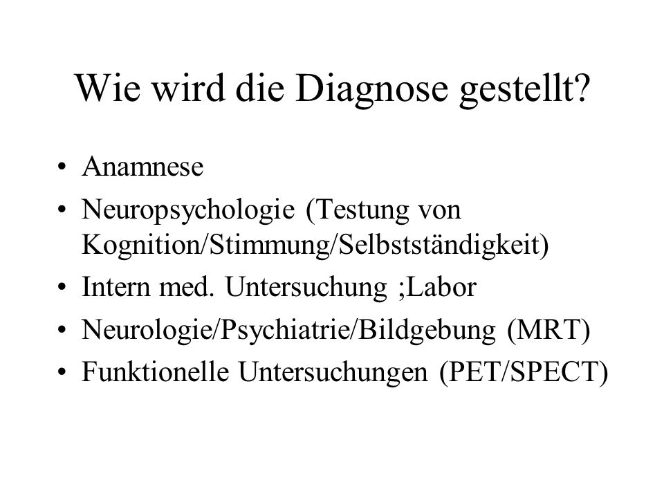 Wie wird die Diagnose gestellt