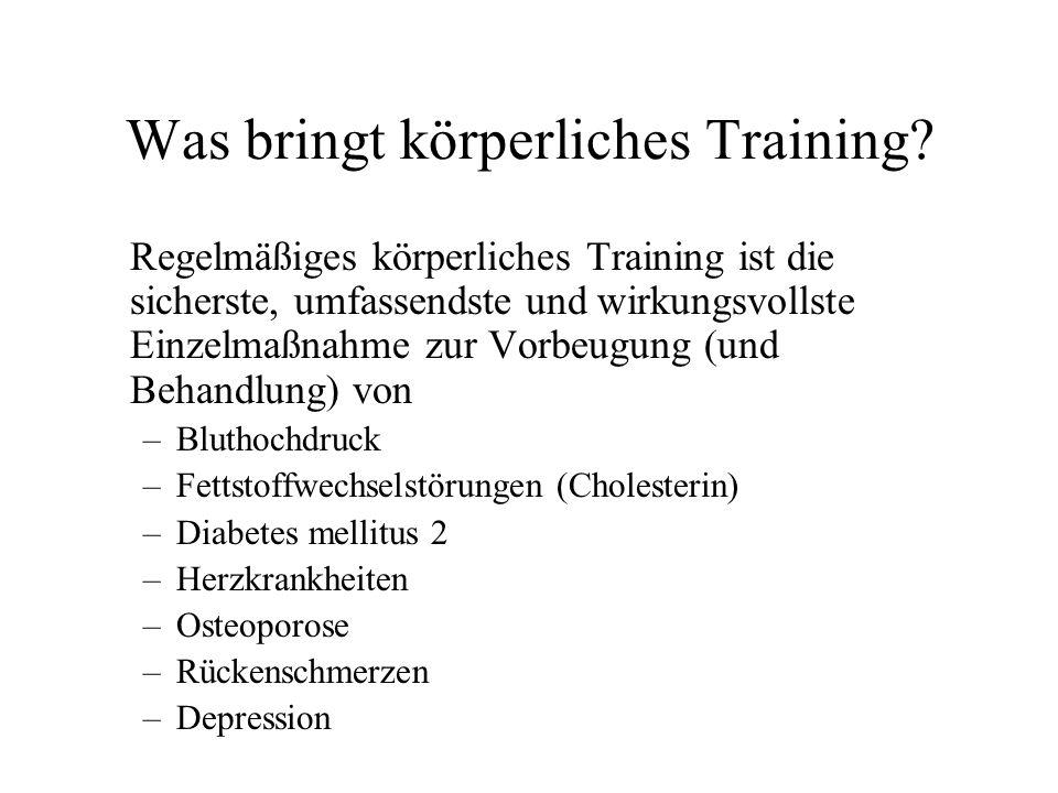 Was bringt körperliches Training