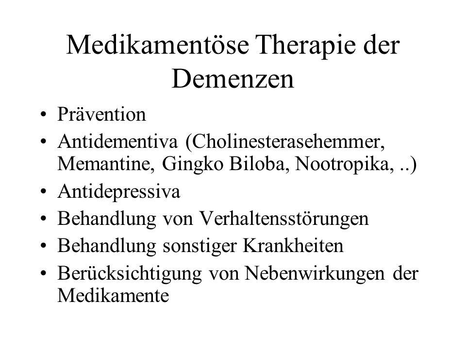 Medikamentöse Therapie der Demenzen
