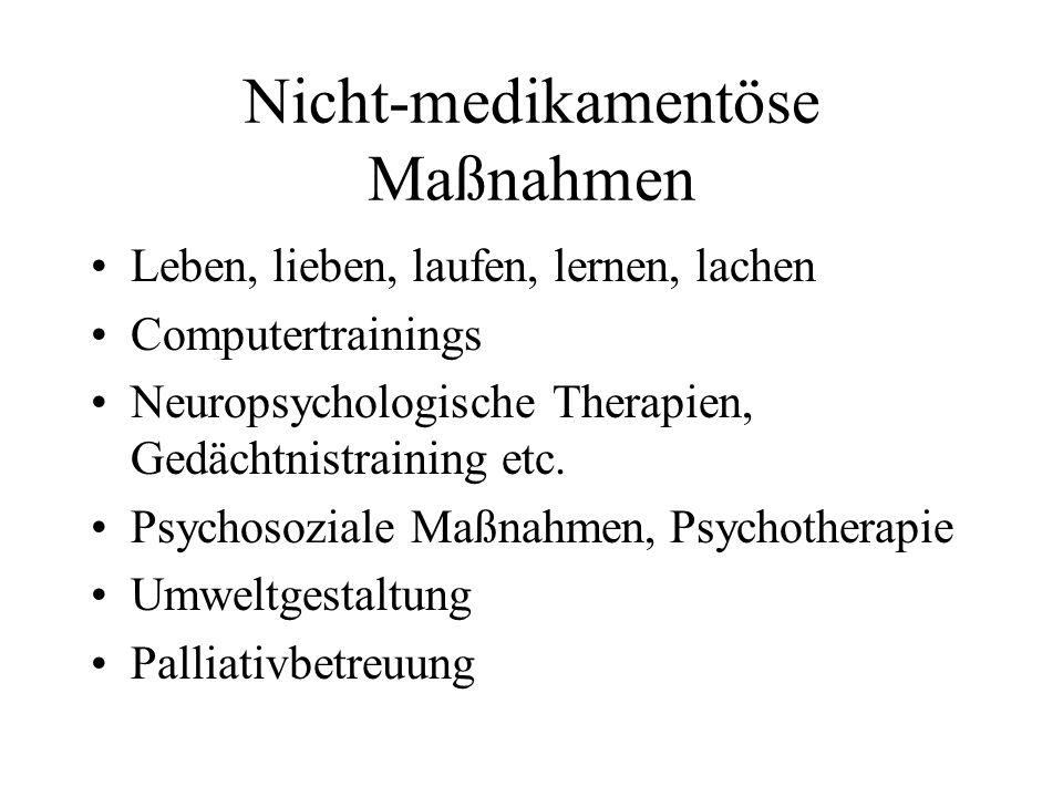 Nicht-medikamentöse Maßnahmen