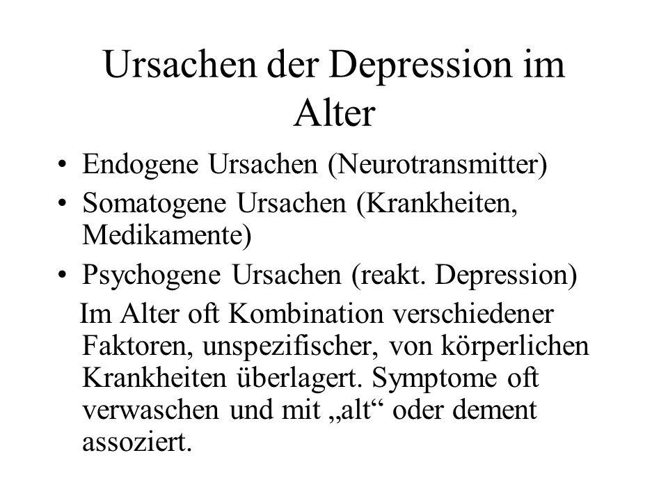 Ursachen der Depression im Alter
