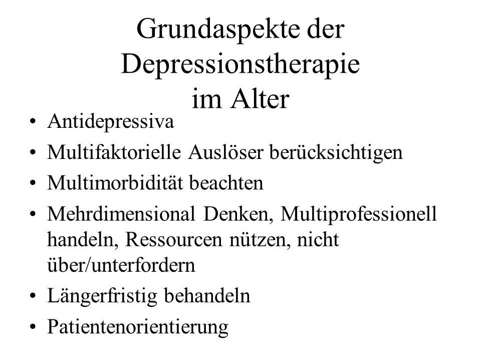Grundaspekte der Depressionstherapie im Alter