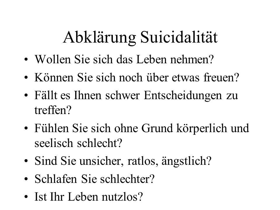 Abklärung Suicidalität