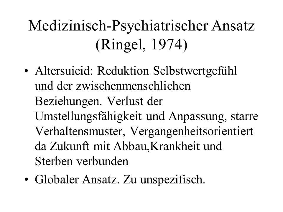 Medizinisch-Psychiatrischer Ansatz (Ringel, 1974)