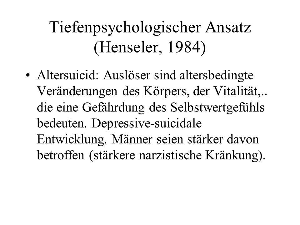 Tiefenpsychologischer Ansatz (Henseler, 1984)