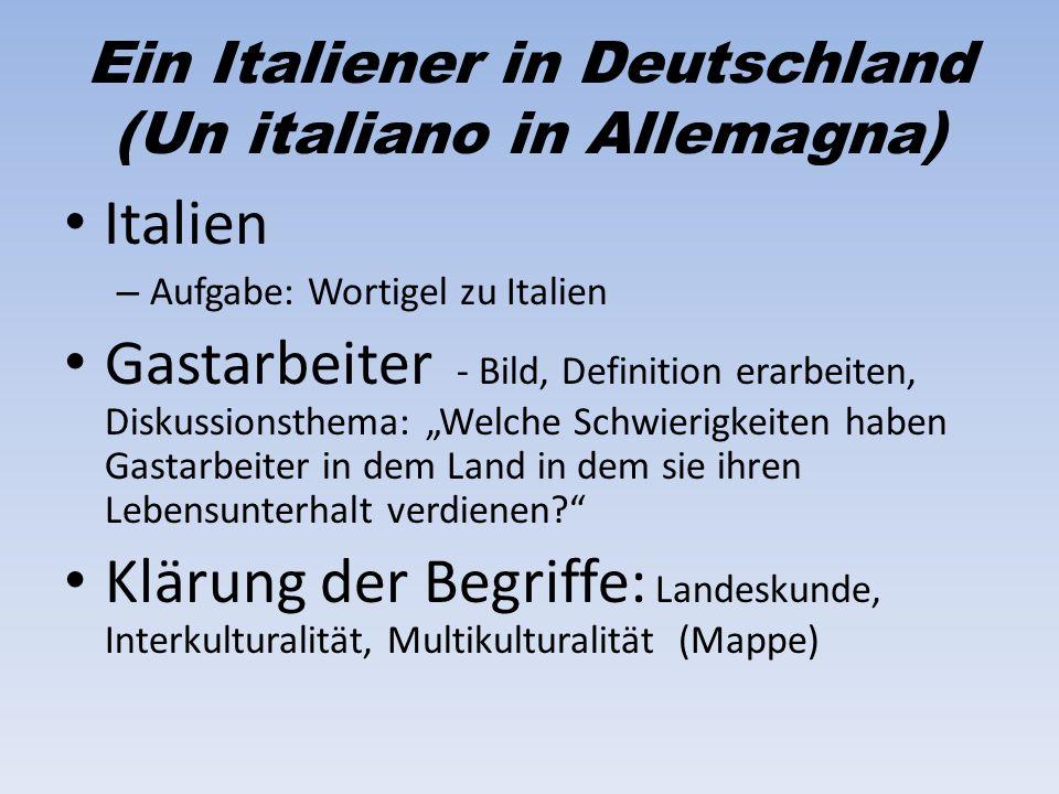 Ein Italiener in Deutschland (Un italiano in Allemagna)