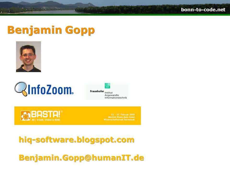 Benjamin Gopp hiq-software.blogspot.com Benjamin.Gopp@humanIT.de