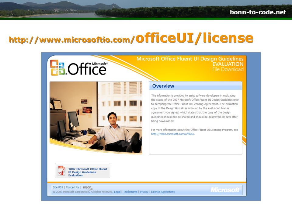 http://www.microsoftio.com/officeUI/license