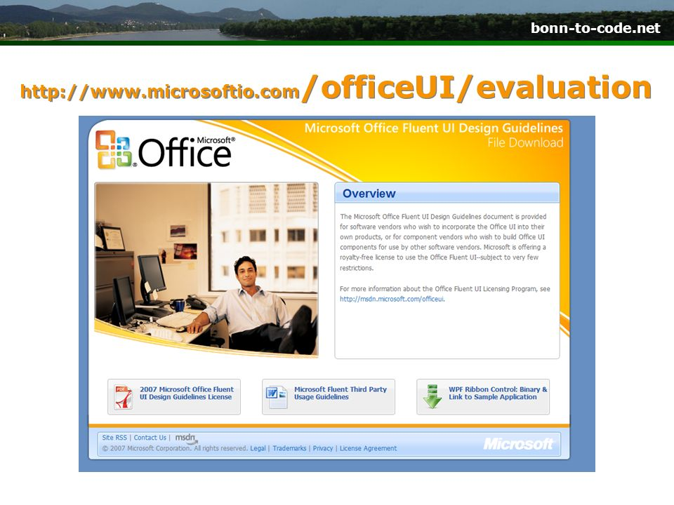 http://www.microsoftio.com/officeUI/evaluation