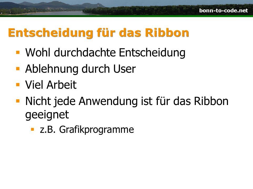 Entscheidung für das Ribbon