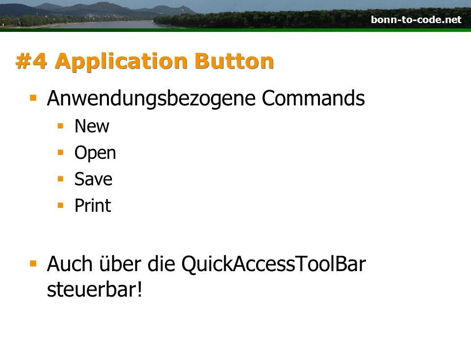 Anwendungsbezogene Commands