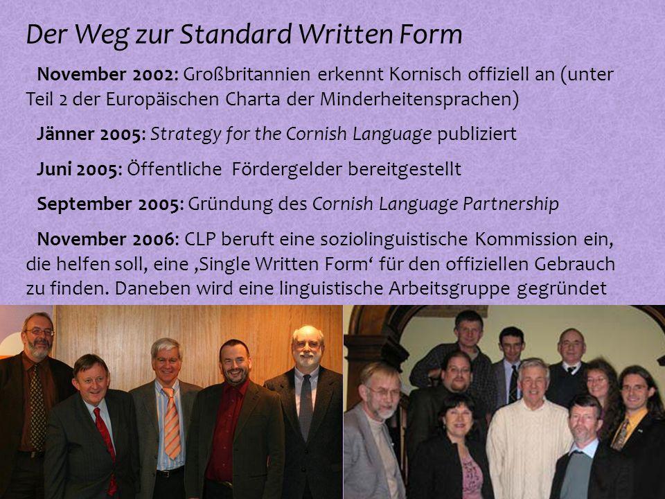 Der Weg zur Standard Written Form