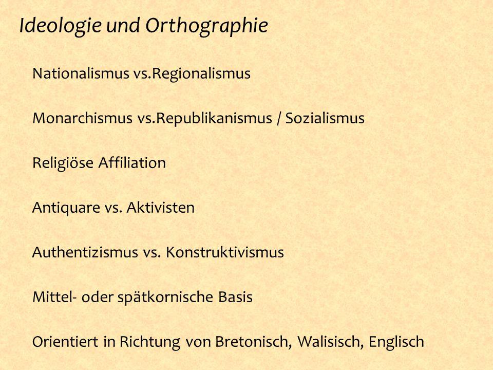 Ideologie und Orthographie