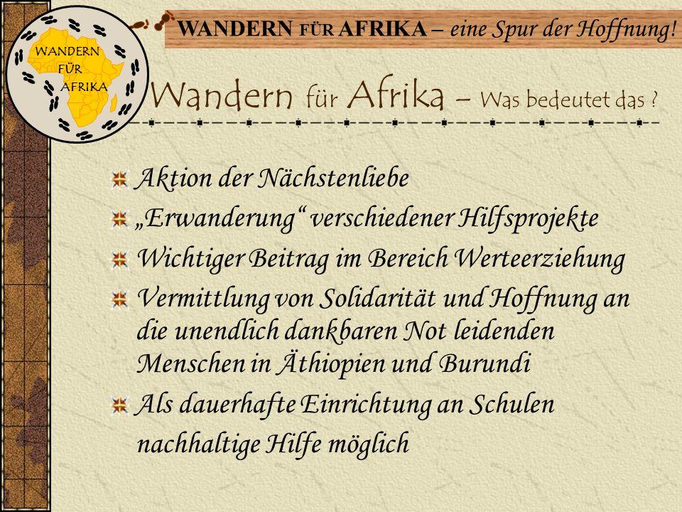 Wandern für Afrika – Was bedeutet das