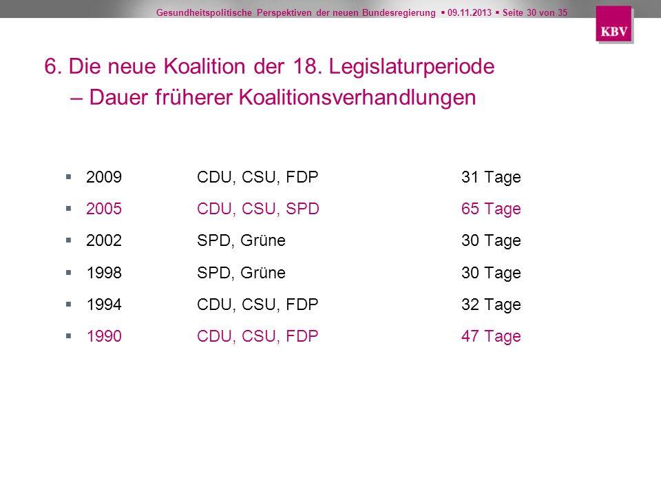 6. Die neue Koalition der 18. Legislaturperiode