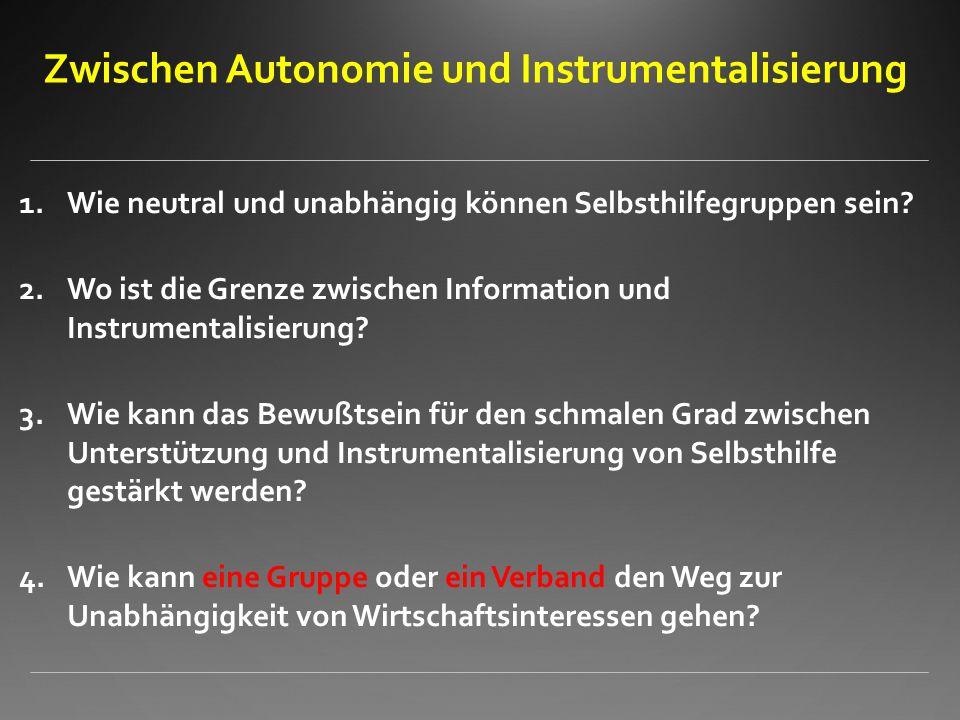 Zwischen Autonomie und Instrumentalisierung