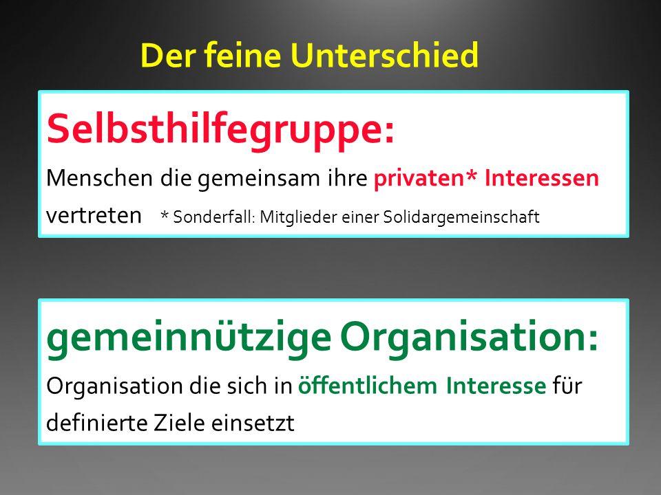 gemeinnützige Organisation: