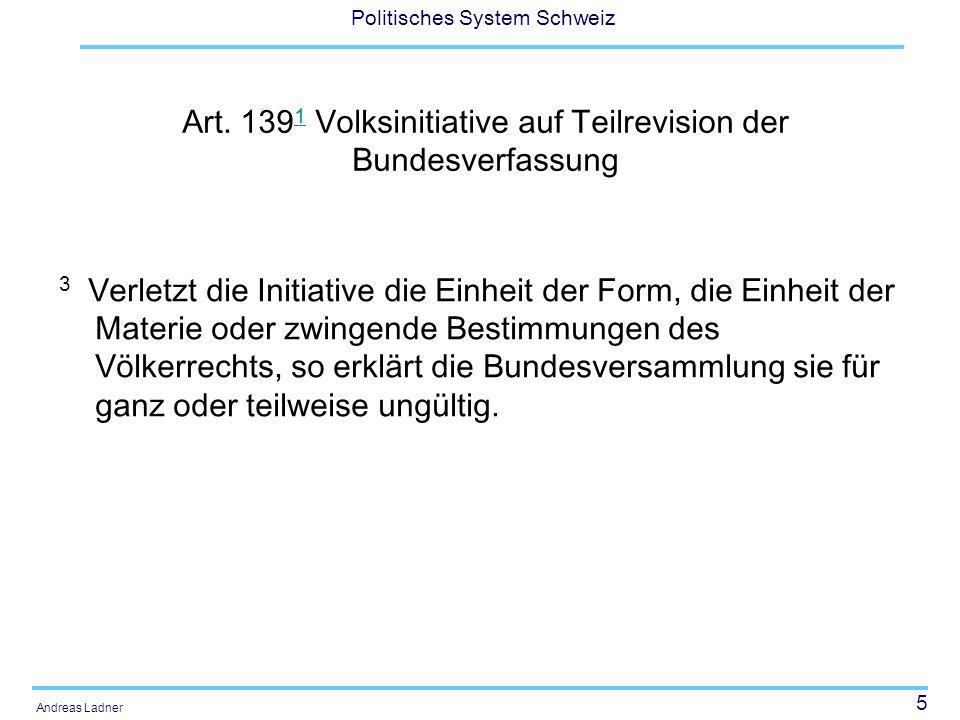 Art. 1391 Volksinitiative auf Teilrevision der Bundesverfassung