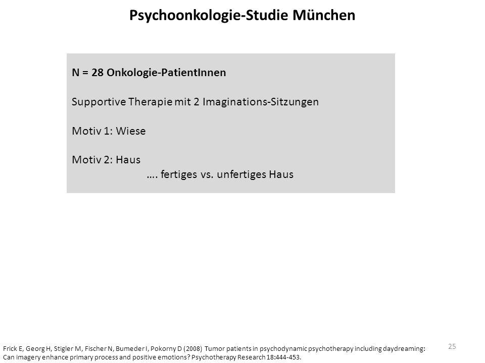 Psychoonkologie-Studie München