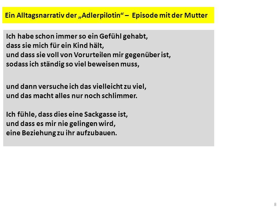 """Ein Alltagsnarrativ der """"Adlerpilotin – Episode mit der Mutter"""