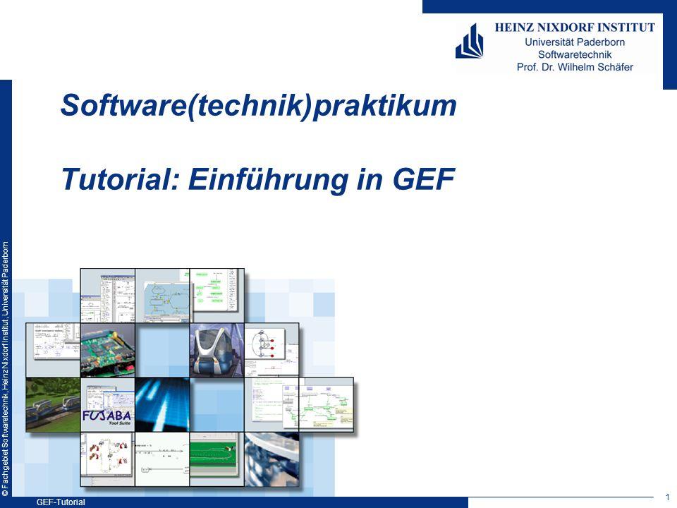 Software(technik)praktikum Tutorial: Einführung in GEF