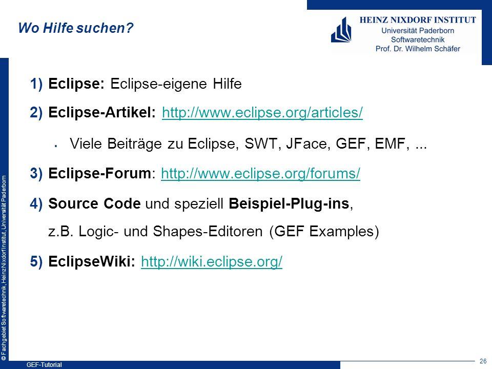 Eclipse: Eclipse-eigene Hilfe