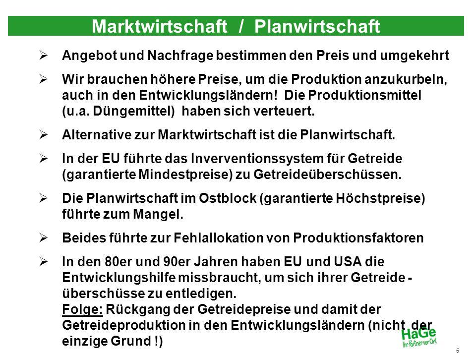 Marktwirtschaft / Planwirtschaft