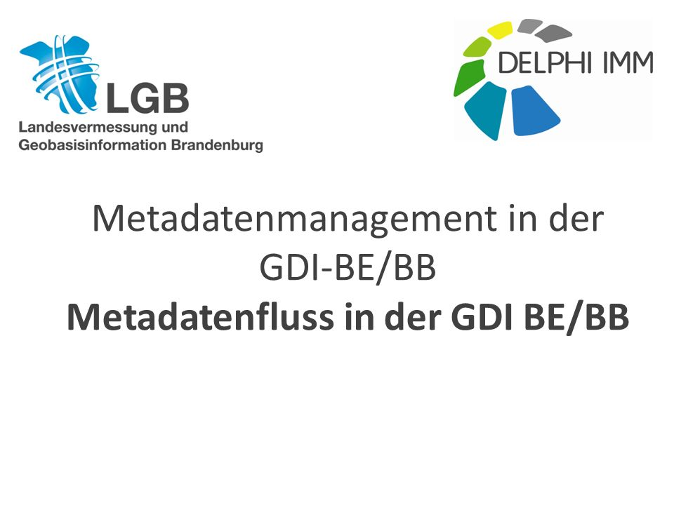 Metadatenfluss in der GDI BE/BB
