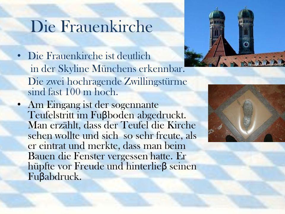 Die Frauenkirche Die Frauenkirche ist deutlich