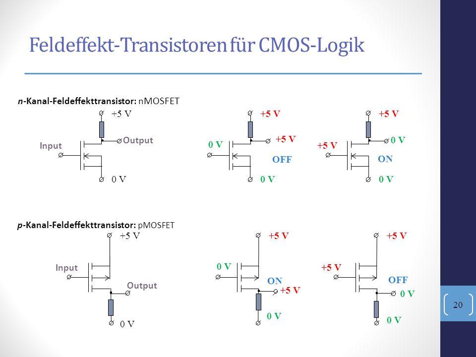 Feldeffekt-Transistoren für CMOS-Logik