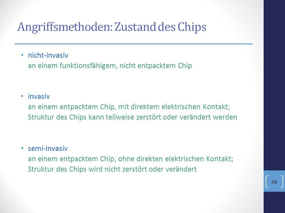 Angriffsmethoden: Zustand des Chips