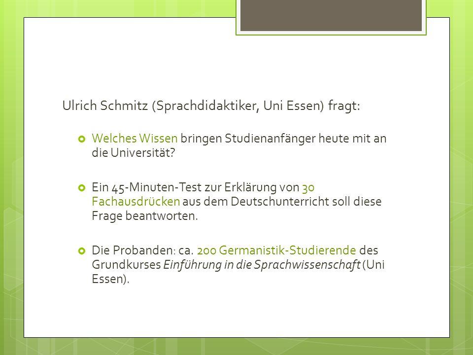 Ulrich Schmitz (Sprachdidaktiker, Uni Essen) fragt: