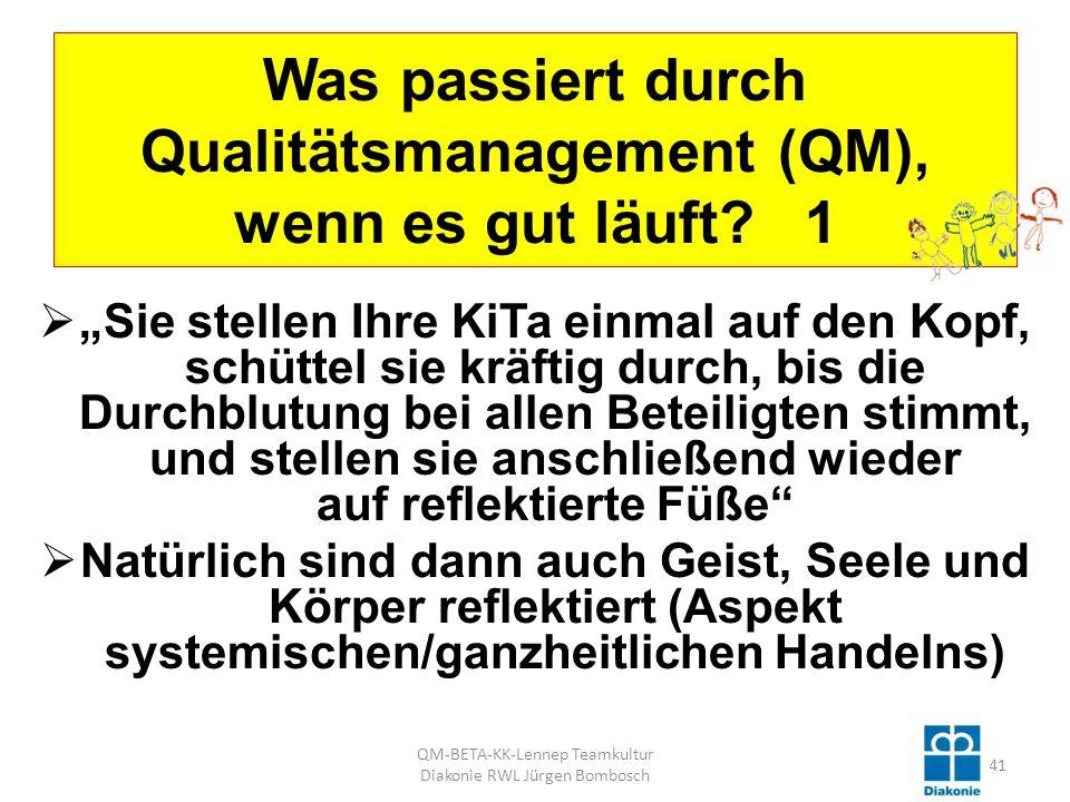 Was passiert durch Qualitätsmanagement (QM), wenn es gut läuft 1