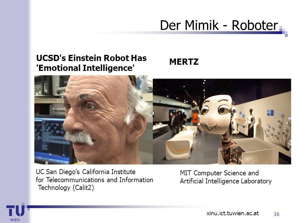 Der Mimik - Roboter UCSD s Einstein Robot Has Emotional Intelligence