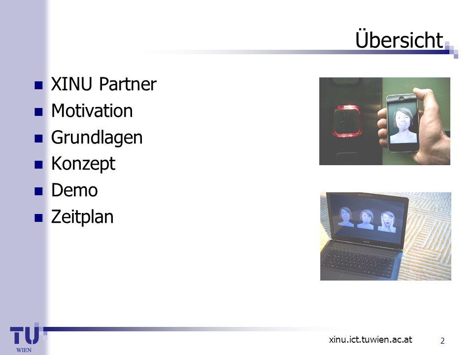 Übersicht XINU Partner Motivation Grundlagen Konzept Demo Zeitplan