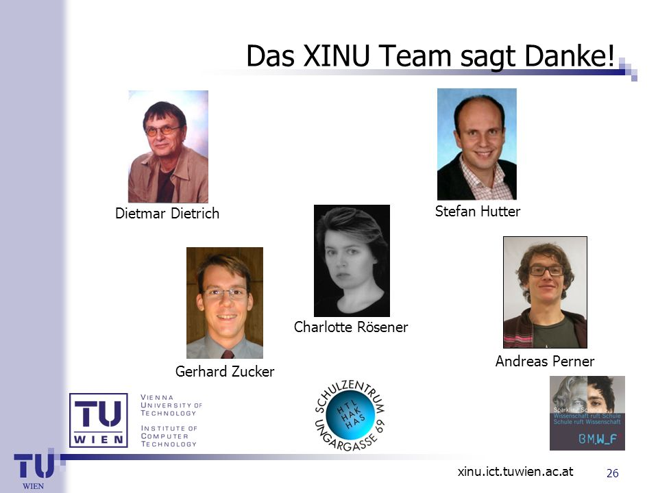 Das XINU Team sagt Danke!