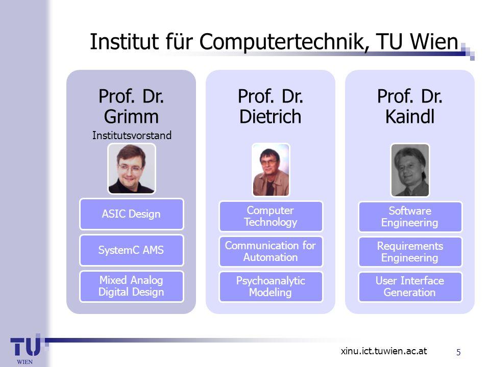 Institut für Computertechnik, TU Wien