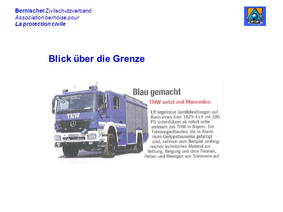 Blick über die Grenze Bernischer Zivilschutzverband