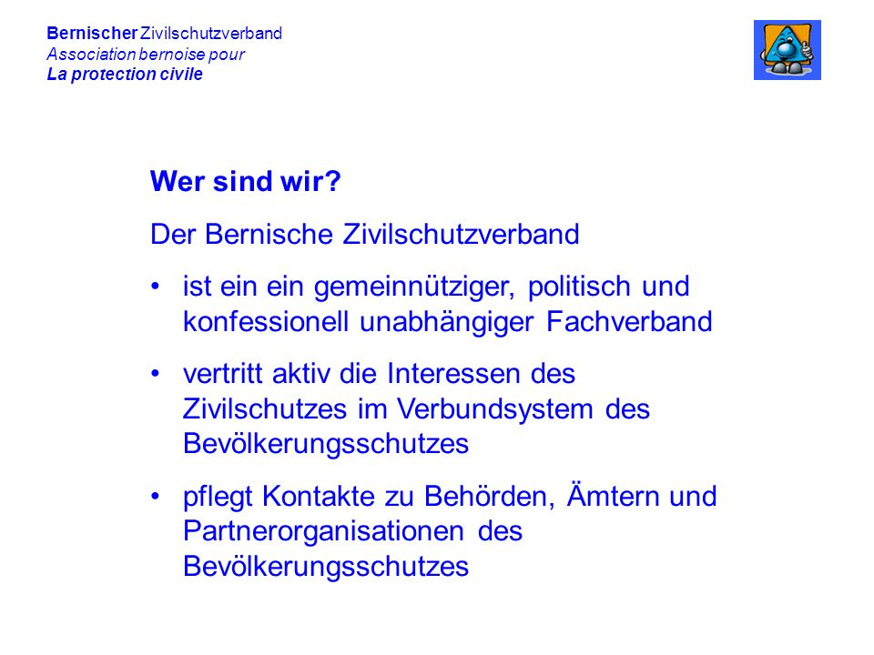 Der Bernische Zivilschutzverband