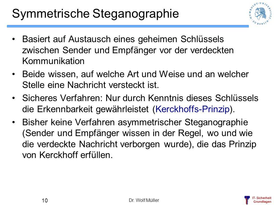 Symmetrische Steganographie