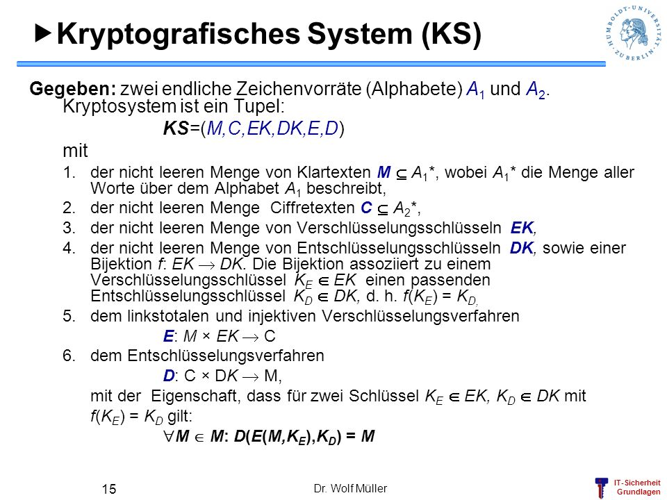 Kryptografisches System (KS)