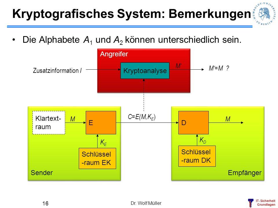 Kryptografisches System: Bemerkungen
