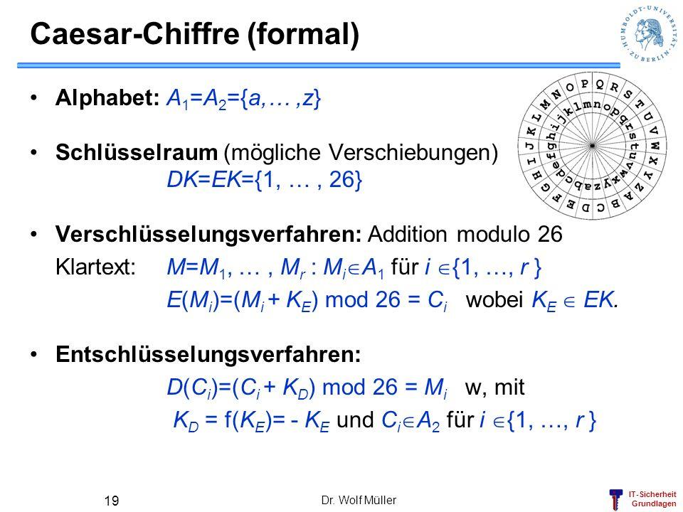 Caesar-Chiffre (formal)