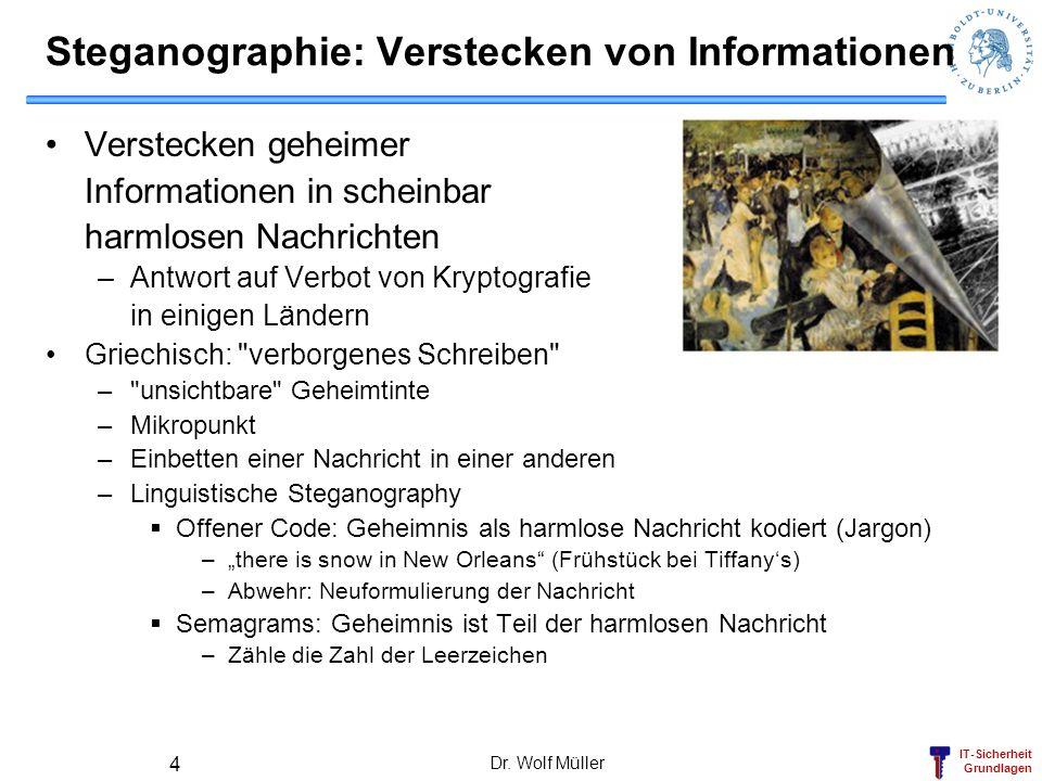 Steganographie: Verstecken von Informationen